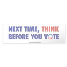 """Think 2012"" Bumper Bumper Sticker"