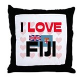 I Love Fiji Throw Pillow