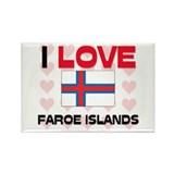 I Love Faroe Islands Rectangle Magnet