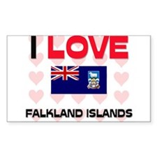 I Love Falkland Islands Rectangle Decal