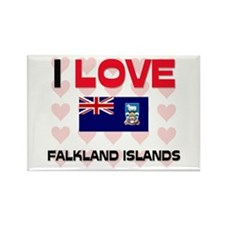 I Love Falkland Islands Rectangle Magnet