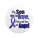 "Angel 1 SON Colon Cancer 3.5"" Button"