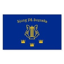 Sjung pa Svenska Rectangle Decal