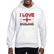 I Love England Jumper Hoody