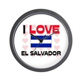 I Love El Salvador Wall Clock