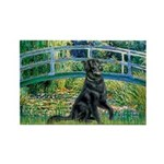 Flat Coated Retriever 2 Rectangle Magnet