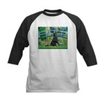 Flat Coated Retriever 2 Kids Baseball Jersey