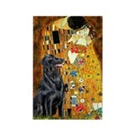 Kiss / Flat Coated Retriever Rectangle Magnet