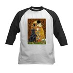 Kiss / Flat Coated Retriever Kids Baseball Jersey