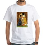 Kiss / Flat Coated Retriever White T-Shirt