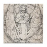 Archangel Azrael Tile Coaster