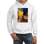 Cafe / Flat Coated Retriever Hooded Sweatshirt
