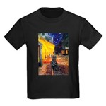 Cafe / Flat Coated Retriever Kids Dark T-Shirt