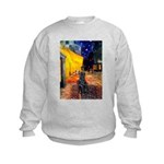 Cafe / Flat Coated Retriever Kids Sweatshirt