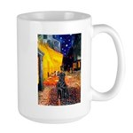 Cafe / Flat Coated Retriever Large Mug