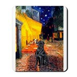 Cafe / Flat Coated Retriever Mousepad