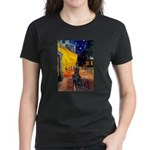 Cafe / Flat Coated Retriever Women's Dark T-Shirt
