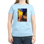 Cafe / Flat Coated Retriever Women's Light T-Shirt