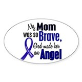Angel 1 MOM Colon Cancer Oval Bumper Stickers