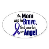 Angel 1 MOM Colon Cancer Oval Decal