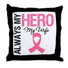 AlwaysMyHero Wife Throw Pillow