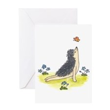 Yoga Hedgehog Upward Facing Dog Greeting Card