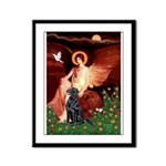 Angel / Flat Coated Retriever Framed Panel Print