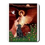 Angel / Flat Coated Retriever Mousepad