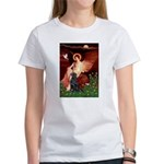 Angel / Flat Coated Retriever Women's T-Shirt