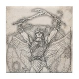 Archangel Camael Tile Coaster
