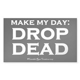 Drop Dead Sticker 2 (Rectangle)