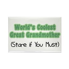 World's Coolest Great Grandmother Rectangle Magnet
