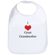 I Love (Heart) Great Grandmother Bib