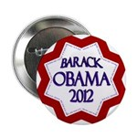 Obama Star for 2012 Re-Election Button