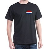Oval Dutch flag Black T-Shirt