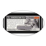 """1949 Trailer Ad"" Oval Sticker (50 pk)"