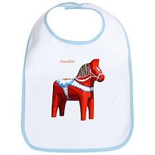 Dala Horse Bib