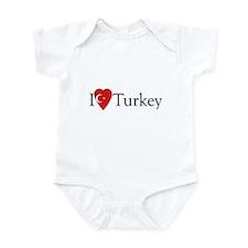 I Love Turkey Onesie