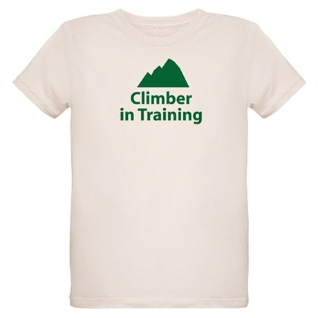 Climber in Training Organic Kids T-Shirt