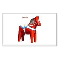 Dala Horse Rectangle Decal