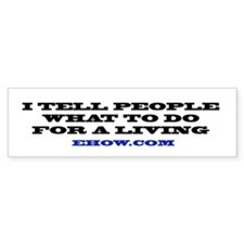 ehow Bumper Bumper Sticker