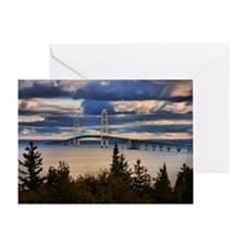 Mackinac Bridge #1060 Greeting Card