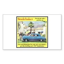 """1947 Studebaker Ad"" Rectangle Decal"