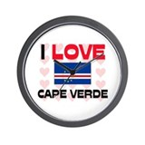 I Love Cape Verde Wall Clock