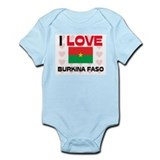 I Love Burkina Faso Infant Bodysuit