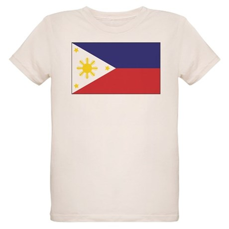 Philippine Flag Organic Kids T-Shirt
