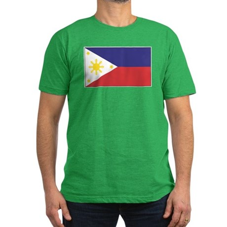 Philippine Flag Men's Fitted T-Shirt (dark)