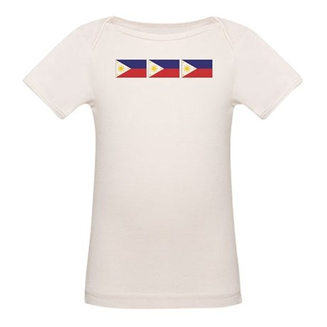 Philippine Flags Organic Baby T-Shirt