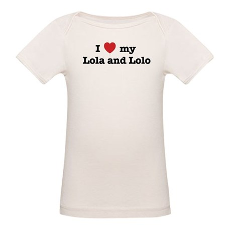I Love my Lola and Lolo Organic Baby T-Shirt