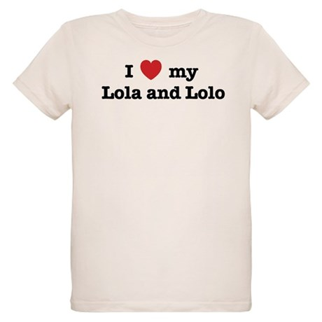 I Love my Lola and Lolo Organic Kids T-Shirt